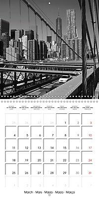 Brooklyn Bridge New York (Wall Calendar 2019 300 × 300 mm Square) - Produktdetailbild 3