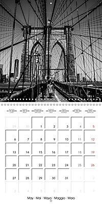 Brooklyn Bridge New York (Wall Calendar 2019 300 × 300 mm Square) - Produktdetailbild 5