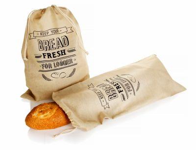Brotbeutel aus Leinen, 2er Set
