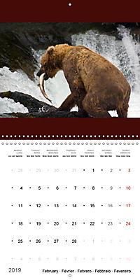 Brown Bears in the wild (Wall Calendar 2019 300 × 300 mm Square) - Produktdetailbild 2