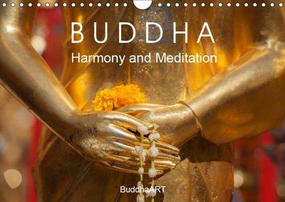 BUDDHA - Harmony and Meditation (Wall Calendar 2019 DIN A4 Landscape), BuddhaART