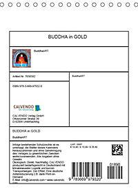 BUDDHA in GOLD (Tischkalender 2019 DIN A5 hoch) - Produktdetailbild 13