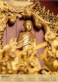 BUDDHA in GOLD (Wandkalender 2019 DIN A2 hoch) - Produktdetailbild 4