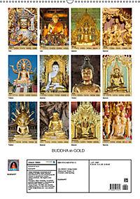 BUDDHA in GOLD (Wandkalender 2019 DIN A2 hoch) - Produktdetailbild 13