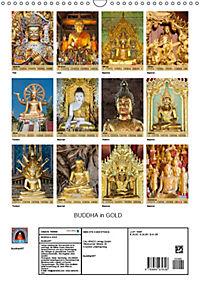 BUDDHA in GOLD (Wandkalender 2019 DIN A3 hoch) - Produktdetailbild 13