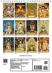 BUDDHA in GOLD (Wandkalender 2019 DIN A4 hoch) - Produktdetailbild 13