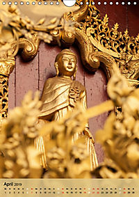BUDDHA in GOLD (Wandkalender 2019 DIN A4 hoch) - Produktdetailbild 4
