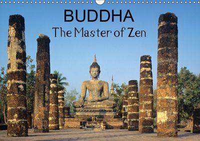 Buddha The Master of Zen (Wall Calendar 2019 DIN A3 Landscape), Chris Hellier