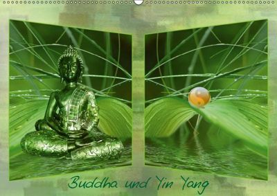 Buddha und Yin Yang (Wandkalender 2019 DIN A2 quer), Claudia Burlager