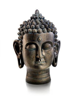 Buddhakopf aus Stein 30cm Buddha Kopf Handarbeit aus Bali Exclusiv