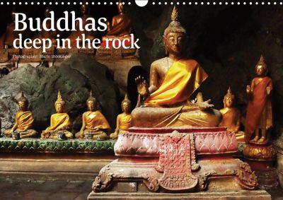 Buddhas deep in the rock (Wall Calendar 2019 DIN A3 Landscape), Mario Stöckinger