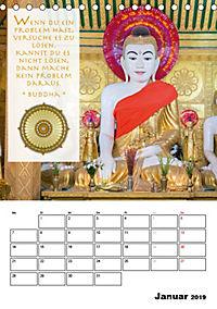 BUDDHAS ZITATE Buddhistische Weisheiten (Tischkalender 2019 DIN A5 hoch) - Produktdetailbild 1