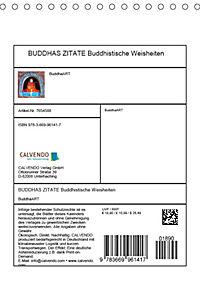 BUDDHAS ZITATE Buddhistische Weisheiten (Tischkalender 2019 DIN A5 hoch) - Produktdetailbild 13
