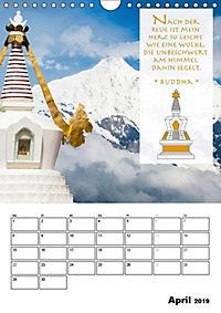 BUDDHAS ZITATE Buddhistische Weisheiten (Wandkalender 2019 DIN A4 hoch) - Produktdetailbild 4