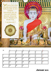 BUDDHAS ZITATE Buddhistische Weisheiten (Wandkalender 2019 DIN A4 hoch) - Produktdetailbild 1
