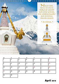 BUDDHAS ZITATE Buddhistische Weisheiten (Wandkalender 2019 DIN A3 hoch) - Produktdetailbild 4