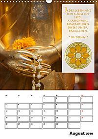 BUDDHAS ZITATE Buddhistische Weisheiten (Wandkalender 2019 DIN A3 hoch) - Produktdetailbild 8