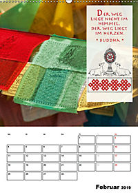 BUDDHAS ZITATE Buddhistische Weisheiten (Wandkalender 2019 DIN A2 hoch) - Produktdetailbild 2
