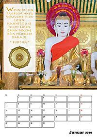 BUDDHAS ZITATE Buddhistische Weisheiten (Wandkalender 2019 DIN A2 hoch) - Produktdetailbild 1