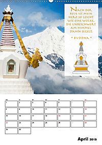 BUDDHAS ZITATE Buddhistische Weisheiten (Wandkalender 2019 DIN A2 hoch) - Produktdetailbild 4