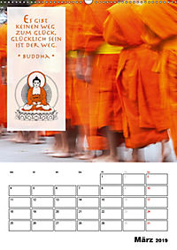BUDDHAS ZITATE Buddhistische Weisheiten (Wandkalender 2019 DIN A2 hoch) - Produktdetailbild 3
