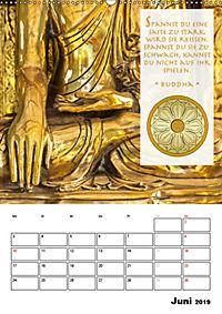 BUDDHAS ZITATE Buddhistische Weisheiten (Wandkalender 2019 DIN A2 hoch) - Produktdetailbild 6