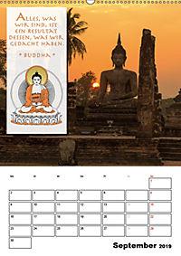 BUDDHAS ZITATE Buddhistische Weisheiten (Wandkalender 2019 DIN A2 hoch) - Produktdetailbild 9
