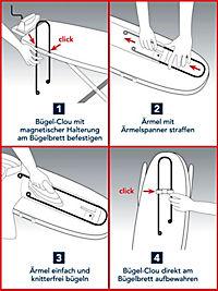Bügelhilfe Bügel-Clou 600mm Edelstahl für Ärmel - Produktdetailbild 5
