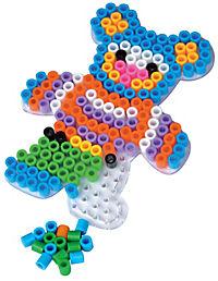 Bügelperlen XL, 950tlg. (Farbe: Grundfarben) - Produktdetailbild 1