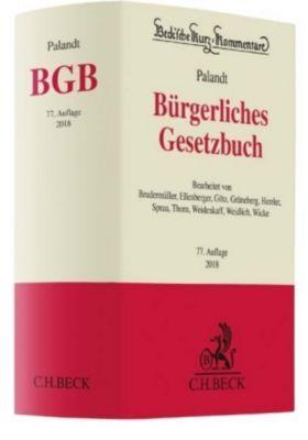 Bürgerliches Gesetzbuch (BGB), Kommentar, Otto Palandt