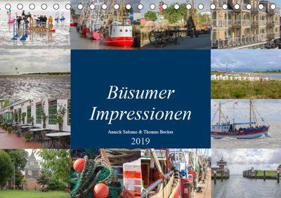 Büsumer Impressionen (Tischkalender 2019 DIN A5 quer), DeBillermoker
