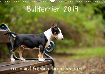 Bullterrier 2019 Frech und fröhlich durch das Jahr (Wandkalender 2019 DIN A3 quer), Yvonne Janetzek