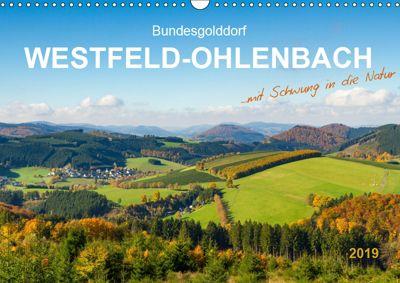 Bundesgolddorf Westfeld-Ohlenbach (Wandkalender 2019 DIN A3 quer), Heidi Bücker