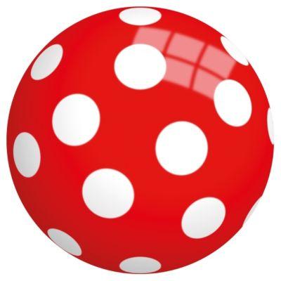 Buntball mit Pilz-Motiv, 13cm