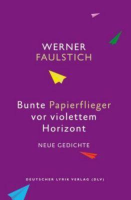 Bunte Papierflieger vor violettem Horizont - Werner Faulstich |