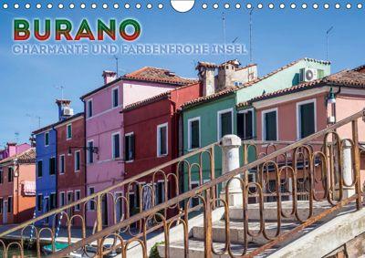 BURANO Charmante und farbenfrohe Insel (Wandkalender 2019 DIN A4 quer), Melanie Viola