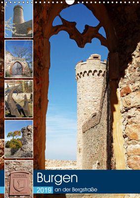 Burgen an der Bergstraße (Wandkalender 2019 DIN A3 hoch), Ilona Andersen