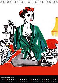 Burlesque Love Cats Katzen (Tischkalender 2019 DIN A5 hoch) - Produktdetailbild 11