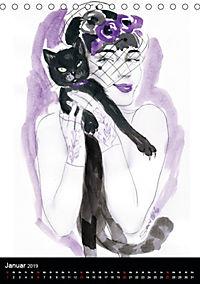 Burlesque Love Cats Katzen (Tischkalender 2019 DIN A5 hoch) - Produktdetailbild 1