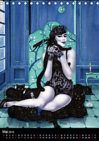 Burlesque Love Cats Katzen (Tischkalender 2019 DIN A5 hoch) - Produktdetailbild 5