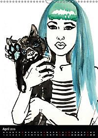 Burlesque Love Cats Katzen (Wandkalender 2019 DIN A3 hoch) - Produktdetailbild 4