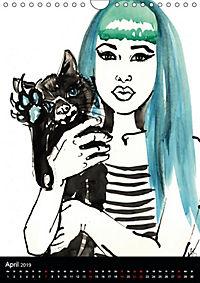 Burlesque Love Cats Katzen (Wandkalender 2019 DIN A4 hoch) - Produktdetailbild 4