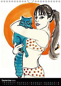 Burlesque Love Cats Katzen (Wandkalender 2019 DIN A4 hoch) - Produktdetailbild 9