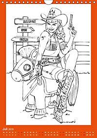Burlesque Malkalender, Malbuch / burlesque coloring book mit Bildern von Sara Horwath (Wandkalender 2019 DIN A4 hoch) - Produktdetailbild 2