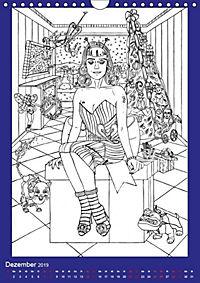 Burlesque Malkalender, Malbuch / burlesque coloring book mit Bildern von Sara Horwath (Wandkalender 2019 DIN A4 hoch) - Produktdetailbild 5
