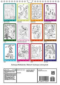 Burlesque Malkalender, Malbuch / burlesque coloring book mit Bildern von Sara Horwath (Wandkalender 2019 DIN A4 hoch) - Produktdetailbild 12