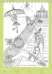 Burlesque Malkalender, Malbuch / burlesque coloring book mit Bildern von Sara Horwath (Tischkalender 2019 DIN A5 hoch) - Produktdetailbild 8