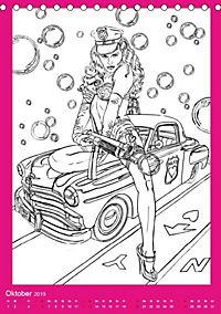 Burlesque Malkalender, Malbuch / burlesque coloring book mit Bildern von Sara Horwath (Tischkalender 2019 DIN A5 hoch) - Produktdetailbild 11