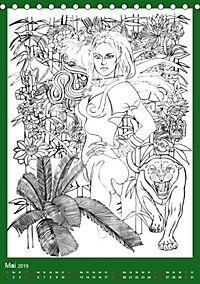 Burlesque Malkalender, Malbuch / burlesque coloring book mit Bildern von Sara Horwath (Tischkalender 2019 DIN A5 hoch) - Produktdetailbild 10