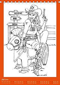 Burlesque Malkalender, Malbuch / burlesque coloring book mit Bildern von Sara Horwath (Tischkalender 2019 DIN A5 hoch) - Produktdetailbild 13